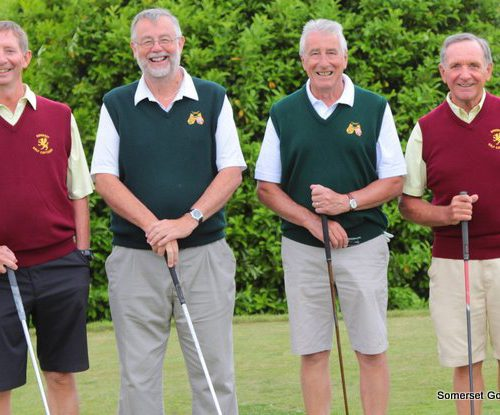 Match Five.  John Whitewood and Jeff Saunders v Roger Thomas and Wref Digings