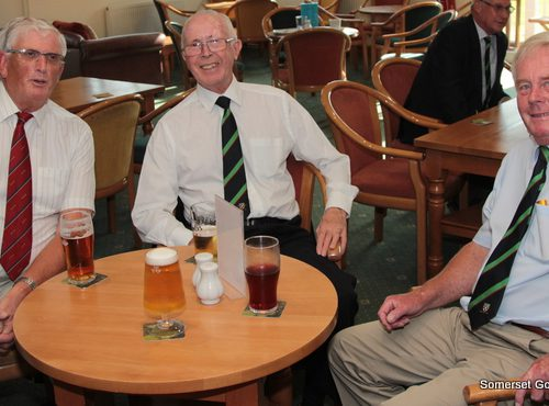 In the centre the President of Wells GC