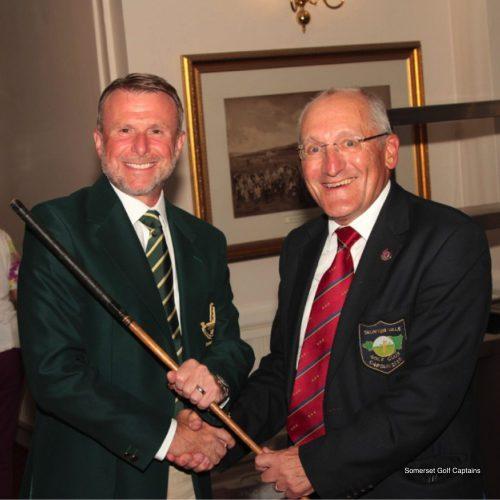 John Beer presents the trophy to Mark Woods