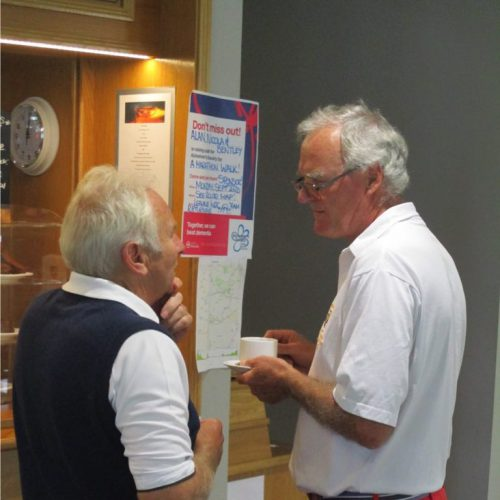 Phil & Malcolm discussing tactics?