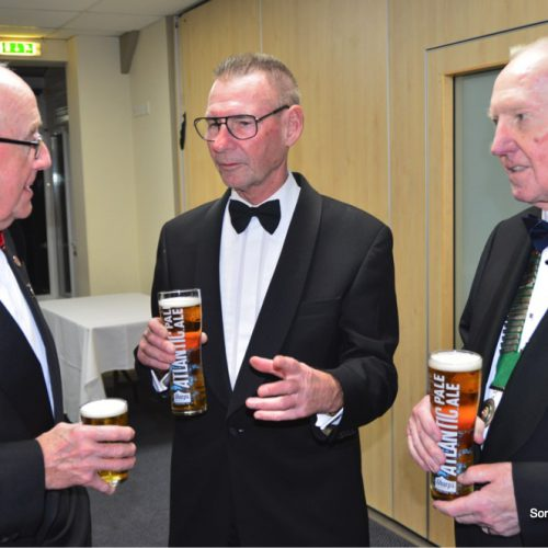 Geoof Ogden,SGU, with Hampshire Secretary George Harris and Captain Paul Knight