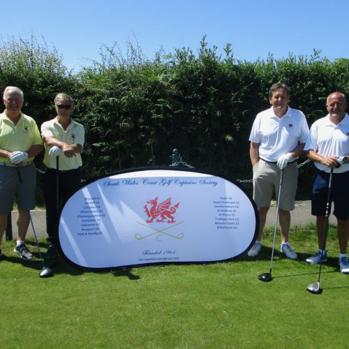 Stephen Butterfield and Mike Rossiter with John Linton and Gareth Wilcox