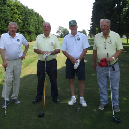 Chris Warcup & Vice-President Roy Parmiter vs Peter Moore & Martin Tumelty